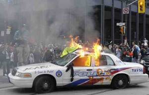 G20 protesters in Toronto, 2010